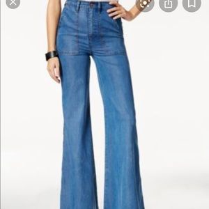High Waisted Bell Bottom Jeans Pants